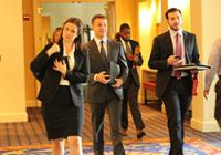 Duke Law students at an employment recruitment event