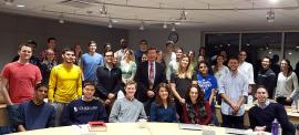 Professor Dunlap with students from his National Security Law class, fall 2015.