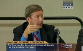 Professor Dunlap participated on the panel on domestic drones at the ABA's Annual Homeland Security conference.