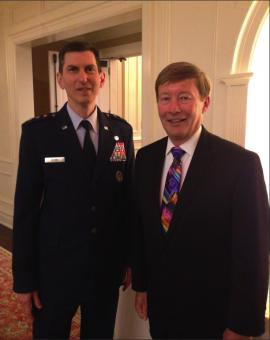 Professor Dunlap with Lt. Gen. Chris Burne, The Judge Advocate General of the US Air Force at the Judge Advocates' Association Annual Dinner on May 19th