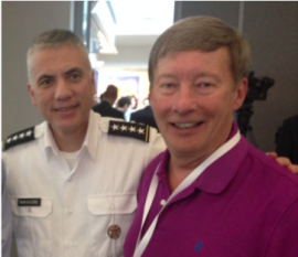 Gen Paul Nakasone, the Cdr. of U.S. Cyber Command and the Director of the NSA at the Aspen Security Forum, July 2018