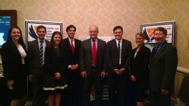 Duke Law students meet with Jack Rives, the Executive Director of the ABA, at the National Security Law conference in Washington, D.C.