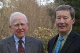 The Admiral and the General: Duke Law Professor Emeritus Robbie Robertson (RADM, USN, ret.) hosted Professor Dunlap (Maj Gen., USAF, ret.) at Duke Forest