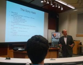 Mr. Paul Rosenzweig, former Assistant Secretary for Policy in the Department of Homeland Security, and Lecturer in Law at George Washington University Law School, gave a lunchtime presentation on cybersecurity on Sept. 21st as part of the LENS lecture series.