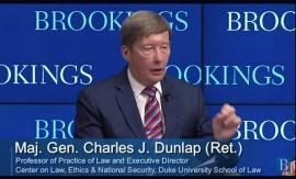 Prof. Dunlap participated in a discussion on autonomous weapons at Brookings Institution on April 5th.