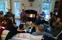 Professor Dunlap's Readings seminar in National Security Law meets in his home near campus.