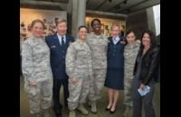 Maj. Gen. Dunlap and Air Force JAGs with whom he served. He presided at the retirement ceremony for Colonel Kate Oler (third from right) on Nov. 9th.
