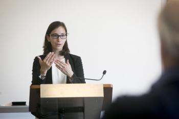 Prof. Marin Levy teaching in Duke Law's Master of Judicial Studies program