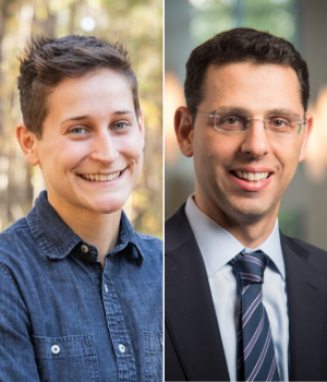 Chelsea Garber '23 PhD '20 and Associate Professor Ofer Eldar