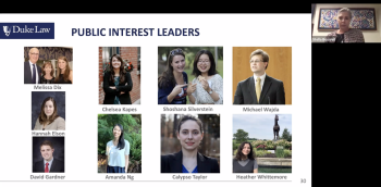 Students recognized as public interest leaders