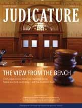 Cover of Judicature magazine