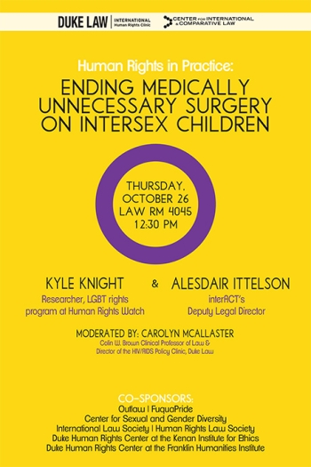 Ending Medically Unnecessary Surgery on Intersex Children