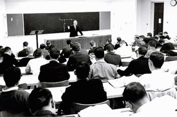 Dean Elvin R. Latty teaching at Duke Law School