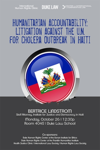 Litigation Against the U.N. for Cholera Outbreak in Haiti
