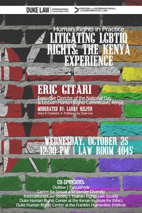 Litigating LGBTIQ Rights: The Kenya Experience
