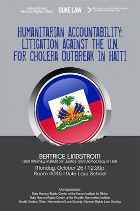 Litigation Against the U.N. for Cholera Outbreak in Haiti